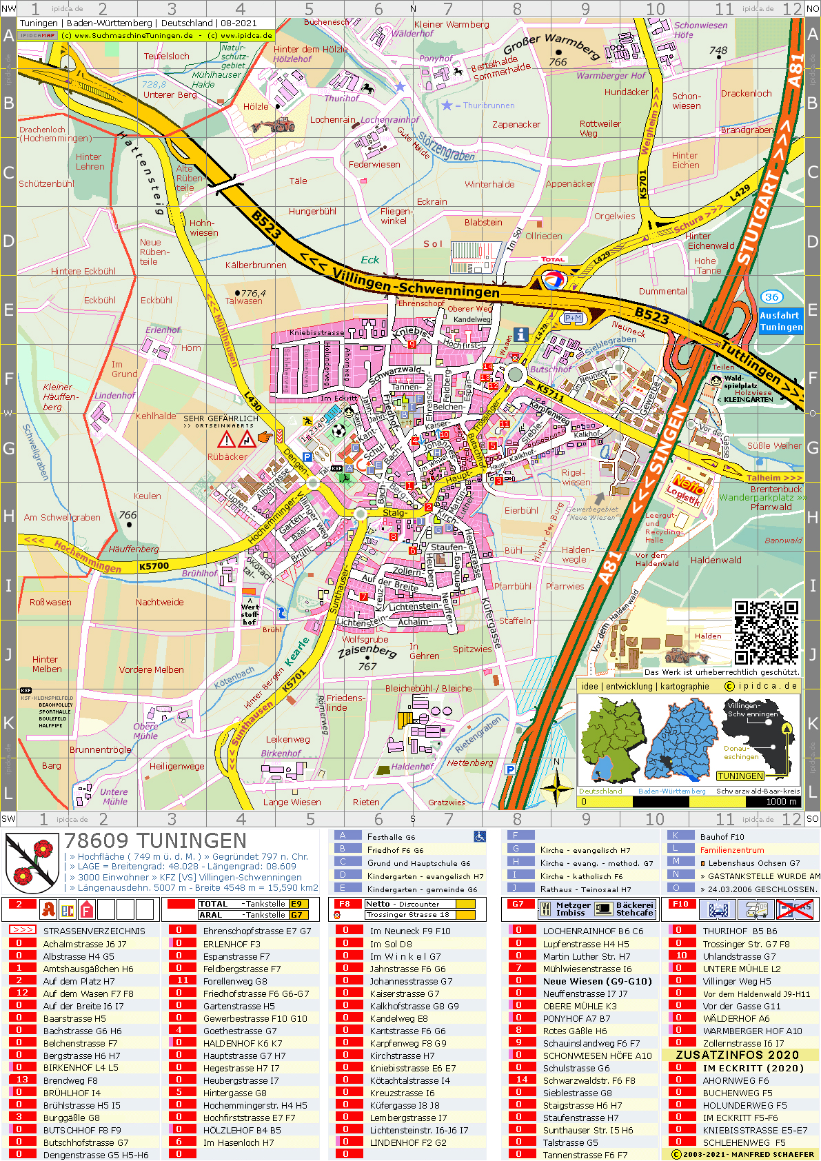 Karte-Ortsplan-Stadtplan-Tuningen